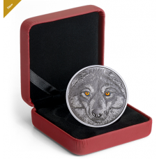 Pure Silver Glow-in-the-Dark Coin - In The Eyes Of The Wolf - Mintage: 6,500 (2017)