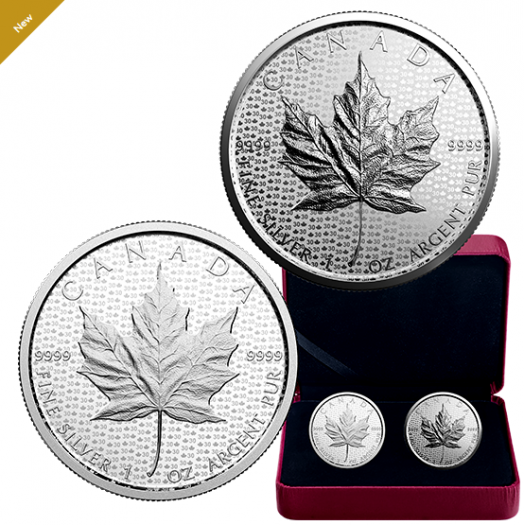 1 oz. Pure Silver 2-Coin Set - 30th Anniversary of the Silver Maple Leaf - Mintage: 5,000 (2018)