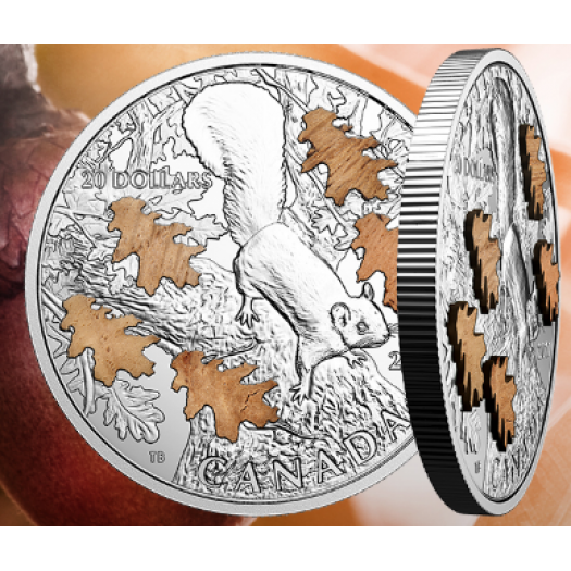 1 oz. Pure Silver Coin – The Nutty Squirrel and the Mighty Oak – Mintage: 7,500 (2017)