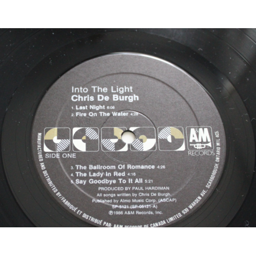 Chris de Burg - Into The Light 1986 LP Record - A&M Records - SP-5121