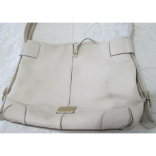 Authentic Michael Kors - HOBO Shoulder Bag -  Beige Leather - Pre-owned