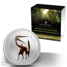 Prehistoric Creature - 25-Cent Coloured Glow-in-the-dark Coin (2013) No. 118632