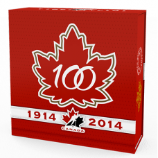 100th Anniversary of Hockey Canada - $20 1 oz. Fine Silver Coin (2014)