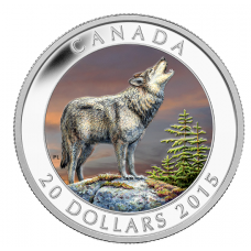1 oz. Fine Silver Coloured Coin - The Wolf - Mintage: 7,500 (2015) No. 133912