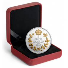 1 oz. Fine Silver Gold-Plated Coin – Legacy of the Canadian Nickel: The Crossed Maple Boughs – Mintage: 8,500 (2015) No. 135338