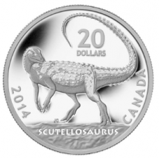 1 oz. Fine Silver Coin - Canadian Dinosaurs: Scutellosaurus - Mintage: 8,500 (2014) No. 127200