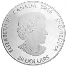 1 oz. Pure Silver Coloured Coin – Canadiana Kaleidoscope: Polar Bear – Mintage: 7,500 (2016)