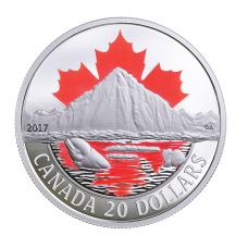 1 oz. Pure Silver Coloured Coin - Canada's Coast: Arctic Coast - Mintage: 7,500 (2017) No. 162373