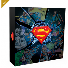 10 oz. Pure Silver Coloured Coin - DC Comics Originals: Superman's Shield - Mintage: 1,500 (2017)