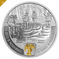 The Battle of Passchendaele - 1 oz. Pure Silver Selectively Gold-Plated Coin: First World War Battle front Series (2017)