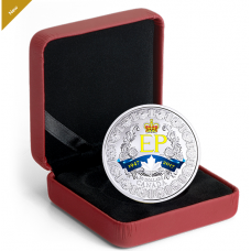 1 oz. Pure Silver Coloured Coin - A Platinum Celebration - Mintage: 7,500 (2017) No. 163560