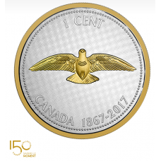 5 oz. Pure Silver Coin - Big Coin Series: Alex Colville Designs: One-Cent Rock Dove - Mintage: 2,150 (2017) No. 154729