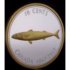 5 oz. Pure Silver Coin – Big Coin Series: Alex Colville Designs: 10 Cents - Mackerel – Mintage: 2,150 (2017) No. 156072