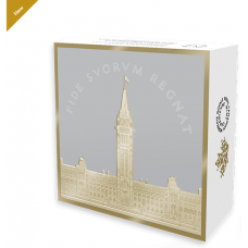 2017 EXCLUSIVE MASTERS CLUB 2 oz. PURE SILVER $1 Coin $1 COMMEMORATIVE ROYAL VISIT - PARLIAMENT BUILDING SILVER DOLLAR - Mintage: 4,000 (2017)