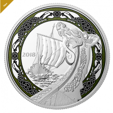 1 oz. Pure Silver Coloured Coin - Norse Figureheads: Northern Fury - Mintage: 6,000 (2018)