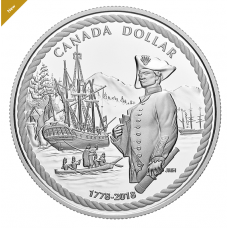 2018 Proof Pure Silver Dollar - 240th Anniversary of Captain Cook at Nootka Sound (2018) No.	164257