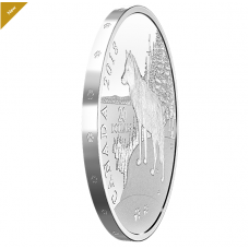 1 oz. Pure Silver Coin - Paw Prints on the Edge: Wolf - Mintage: 5,500 (2018)
