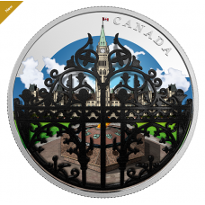 2 oz. Pure Silver Coin - The Queen's Gate: Formal Entrance to Parliament Hill - Mintage: 5,500 (2018)
