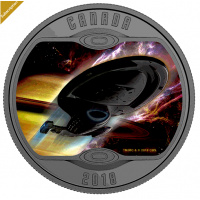 Star Trek™: U.S.S. Voyager NCC-74656 - Pure Silver Glow-In-The-Dark Coloured Coin (2018) No. 164127