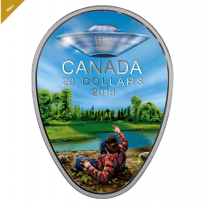 1 oz. Pure Silver Glow-in-the-Dark Coin - Canada's Unexplained Phenomena: The Falcon Lake Incident - Mintage: 4,000 (2018) No. 165618
