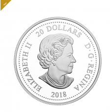 2018 $20 1 OZ. FINE SILVER COIN THE ROYAL WEDDING OF HRH PRINCE HARRY AND MEGHAN MARKLE No. 168569