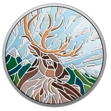1 oz. Pure Silver Coin - Canadian Mosaics: Caribou - Mintage: 6,000 (2018) No. 166294