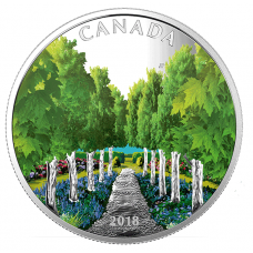 1 oz. Pure Silver Coin - Maple Tree Tunnel - Mintage: 6,000 (2018) No. 166662