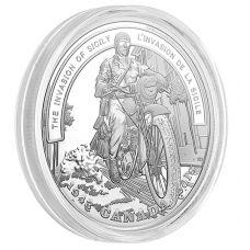 1 oz. Pure Silver Coin - Second World War Battlefront: The Invasion of Sicily - Mintage: 7,500 (2018) No. 147822
