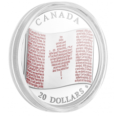 1 oz. Pure Silver Coloured Coin - Canadian Flag (2018) - Mintage: 10,000 No. 168122