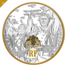 1 oz. Pure Silver Gold-Plated Coin - First World War Allies: France - Mintage: 5,000 (2018) No. 166137