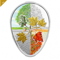 2018 $20 FINE SILVER COIN  FOUR SEASONS OF THE MAPLE LEAF - Mintage: 4,000 (2018) No. 167307