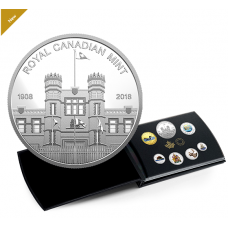 2018 FINE SILVER COLOURISED COIN SET CLASSIC CANADIAN COINS No. 168501