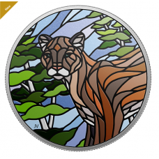 1 oz. Pure Silver Coin - Canadian Mosaics: Cougar - Mintage: 6,000 (2018) No. 166642