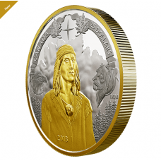 1 oz. Pure Silver Gold Plated Piedfort - 250th Anniversary of Tecumseh's Birth - Mintage: 6,000 (2018) No. 166404