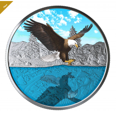 1 oz. Pure Silver Coin - Bald Eagle Reflection - Mintage: 4,000 (2019) No. 168219