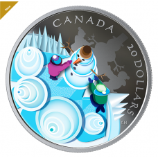 1 oz. Pure Silver Coin - Mystical Snow Day - Mintage: 5,000 (2019) No. 168550
