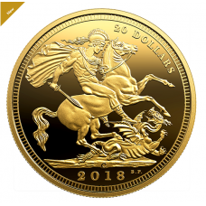 1 oz. Pure Silver Gold-Plated Coin - The 1908 Sovereign: 110th Anniversary of the Royal Canadian Mint - Mintage: 5,000 (2018) No. 170491
