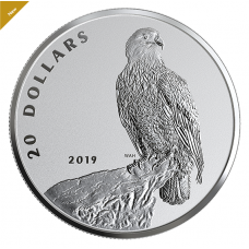 1 oz. Pure Silver Coin - The Valiant One: Bald Eagle - Mintage: 5,500 (2019) No. 172016
