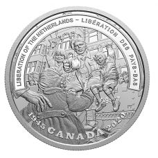 1 oz. Pure Silver Coin - Second World War Battlefront Series: The Liberation of the Netherlands - Mintage: 7,500 (2020) No. 147825