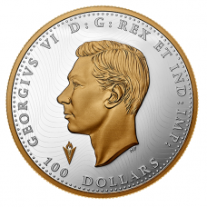 10 oz. Pure Silver Selectively Gold-Plated Coin - Liberation of the Netherlands: Operation Manna - Mintage: 550 (2020) No. 177631