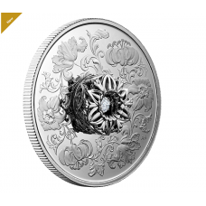 Pure Silver Coin - Dancing Diamond™: Sparkle of the Heart - Mintage: 750 (2020) No. 177183