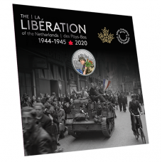 75th Anniversary of the Liberation of the Netherlands: Canadian Army - $10 Pure Silver Coloured Coin (2020)