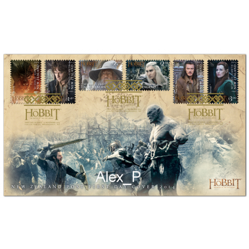 First Day Cover - The Hobbit: The Battle of the Five Armies 6 stamps 2014