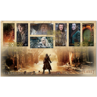 First Day Cover with 7 stamps- The Hobbit: The Battle of the Five Armies 2014
